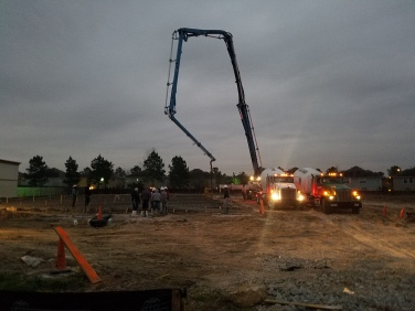Pouring of Concrete