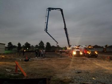 Pouring of Concrete
